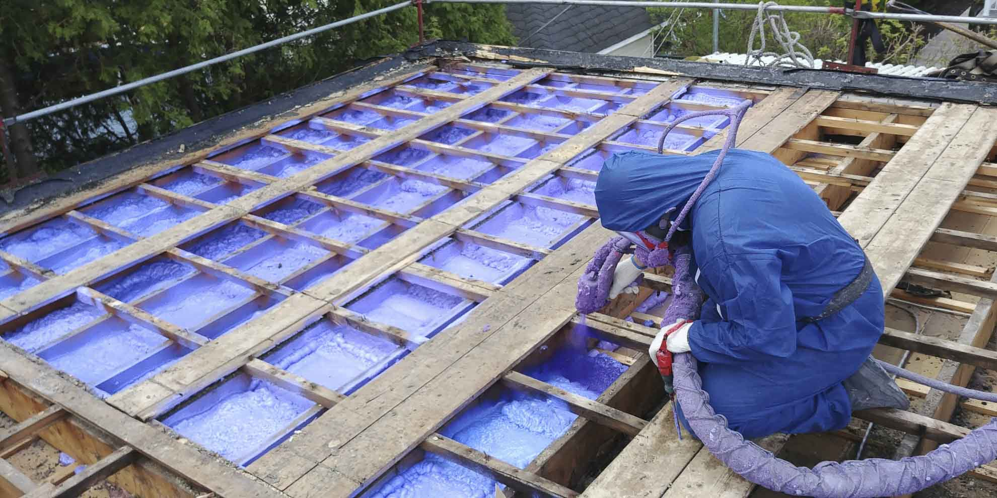 Urethane injection inside of the attic structure for proper insulation