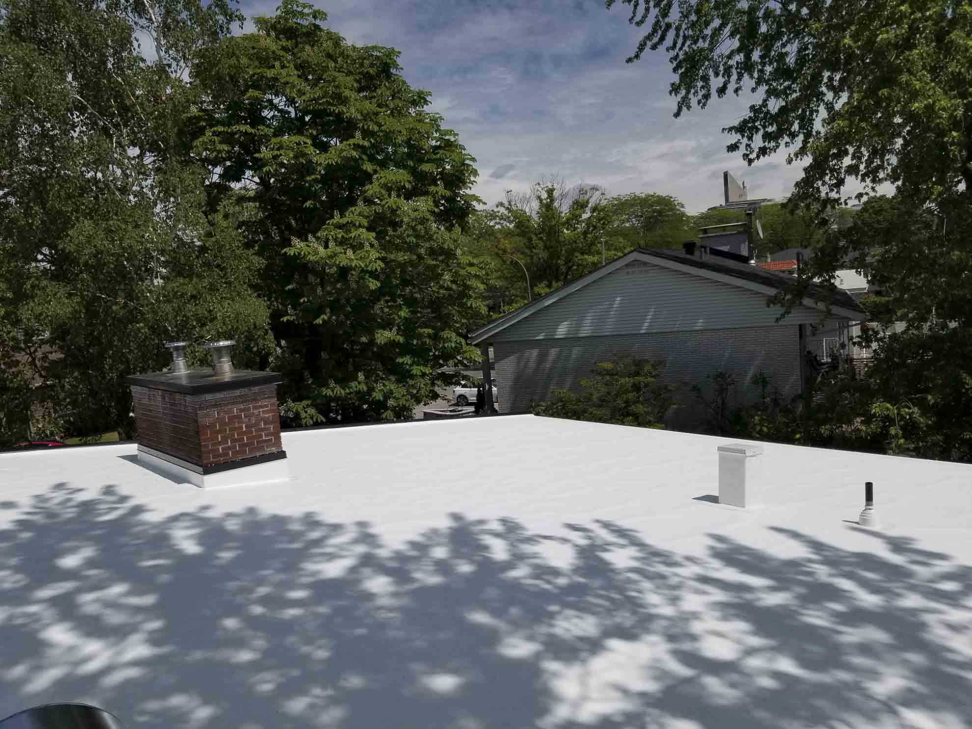 view of the brand new roof after the roofers finished their work
